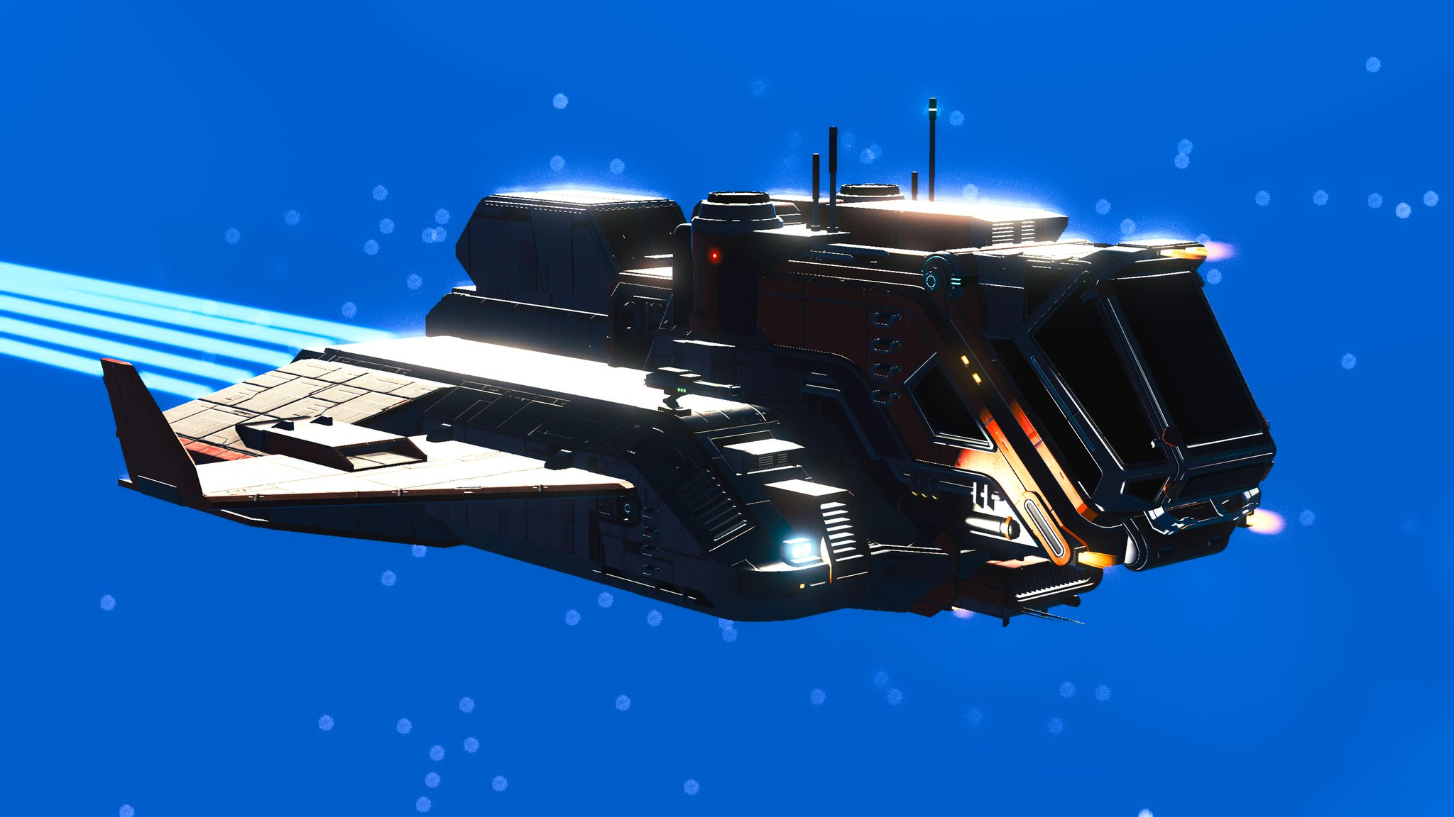 A shuttle craft from No Man's Sky