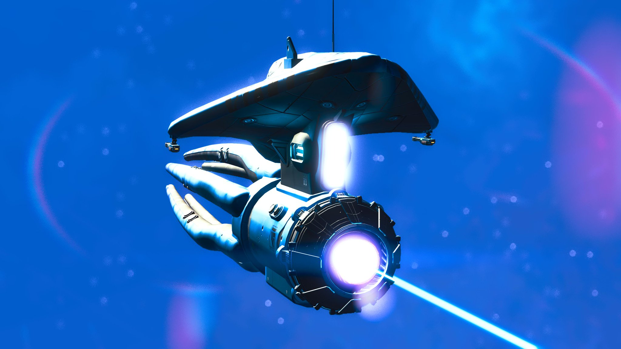 A squid ship from No Man's Sky. Imagine the Starship Enterprise but as a fish. That doesn't help, does it?