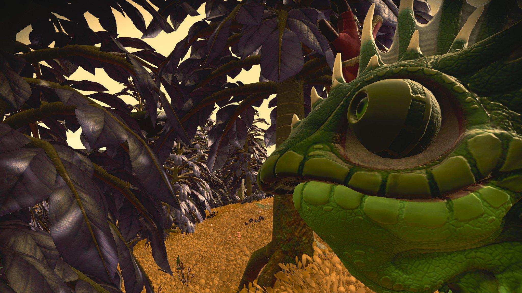 The same lizard chum, walking through the woods.