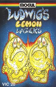 The box art for the game. Two was lemons with arms and legs look like they need a pee