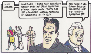 Dan Dare chats to Digby about the north/south divide