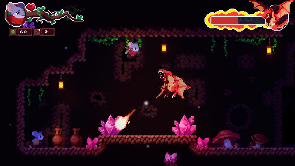 A cave scene from Micetopia, there's a dragon in there.