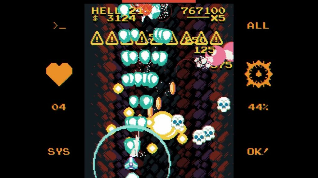 It's a screenshot from Void Gore. There are skulls being blown apart in a flood of bullets