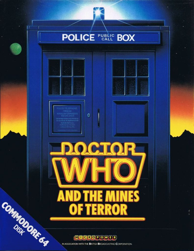 The cover art for Doctor Who And The Mines Of Terror. It's a TARDIS.