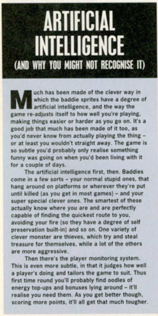 A cutting from Amiga Power, I'll try and get round to transcribing it in a bit. In the meantime, sorry.